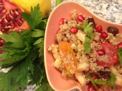 salade, quinoa, grenade